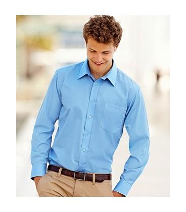 Мужская Рубашка Fruit of the Loom Short Sleeve Poplin Shirt