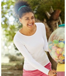 Женская футболка с длинным рукавом Fruit of the Loom - LADY-FIT VALUEWEIGHT LONG SLEEVE T