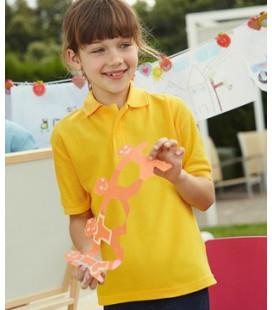 Детская  рубашка Поло  Fruit of the loom   Kids  65/35 Polo