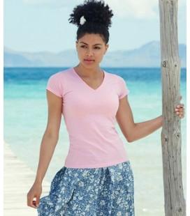 Женская футболка с V-образным вырезом Fruit of the Loom