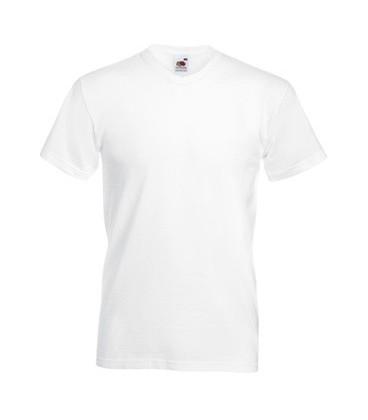 Мужская футболка с V-образным вырезом Fruit of the Loom Super ValueWeight V-Neck T
