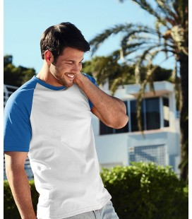 Мужская футболка с коротким рукавом Fruit of the Loom ValueWeight Short Sleeve Baseball T
