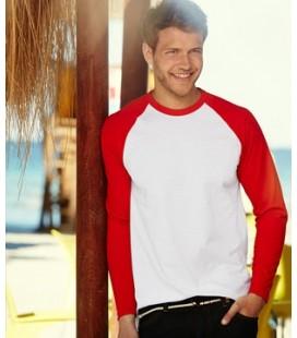 Мужская футболка с длинным рукавом Fruit of the Loom ValueWeight Long Sleeve Baseball T