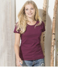 Женская футболка плотная Ringspun premium