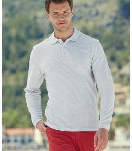 Мужская Рубашка Поло с длинным рукавом Fruit of the Loom Premium Long Sleeve Polo