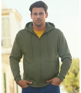 Мужская толстовка с капюшоном премиум Fruit of the Loom Premium Hooded Sweat Jacket